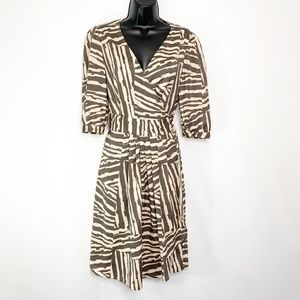 Banana Republic Factory Printed Wrap Dress Size 6